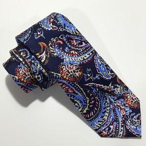 Chaps Blue Paisley 100% Silk Neck Tie.